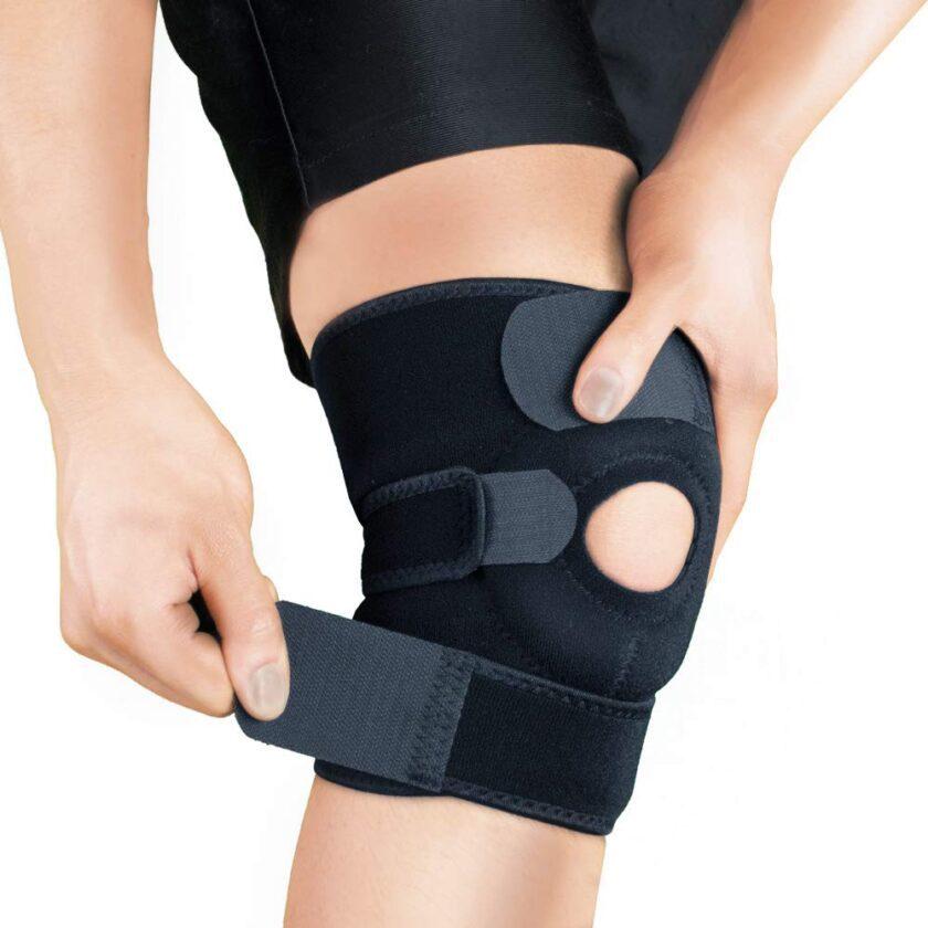 Adjustable knee support brace
