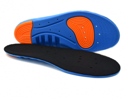 Shock absorbing running insoles