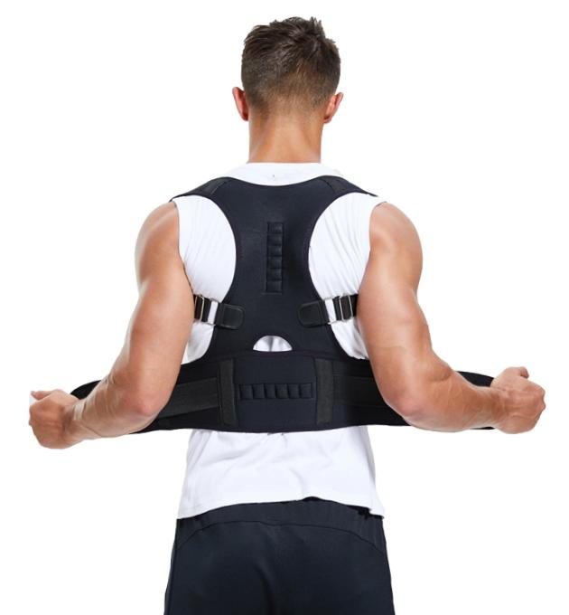 Magentic posture support back brace