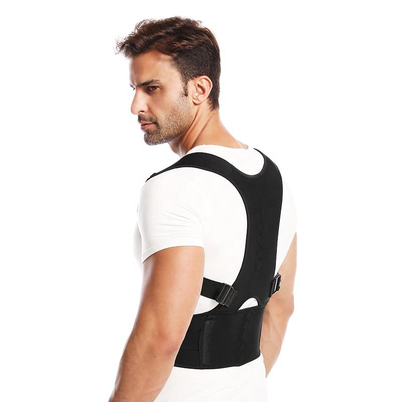 Magnetic posture support back brace