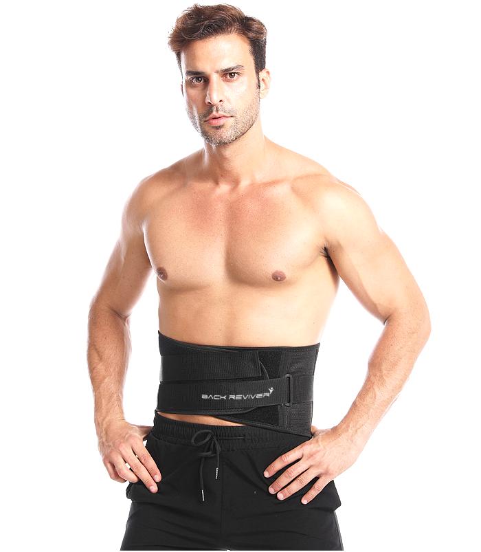Abdominal binder hernia belt front view